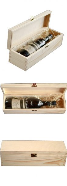 A wooden gift box for a bottle of wine 0,75lt