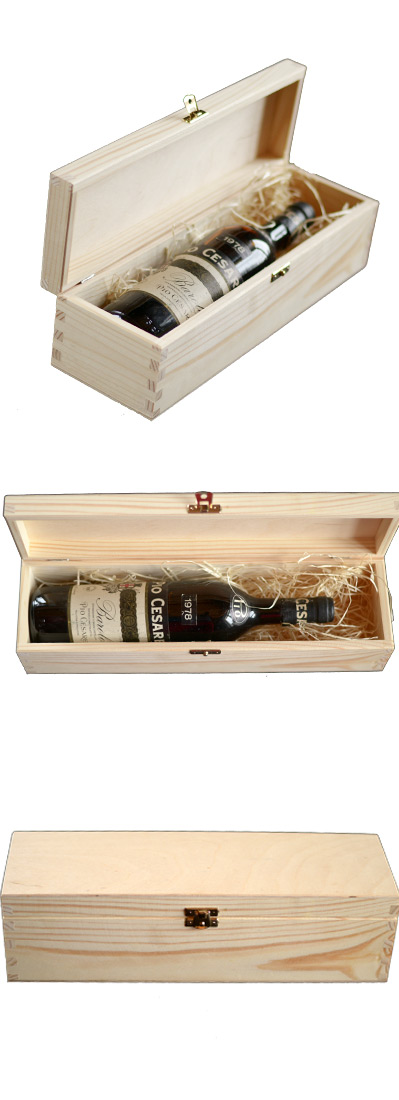 A Wooden Gift Box For A Bottle Of Wine 0 75lt