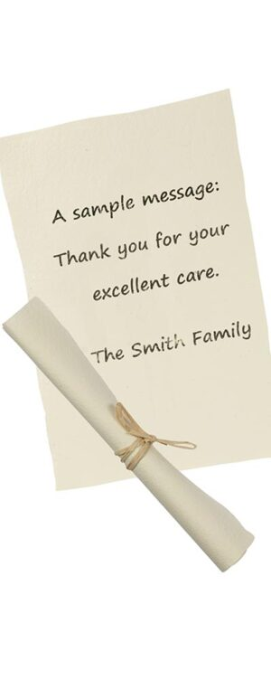 Personalised Message, Thank-You Note