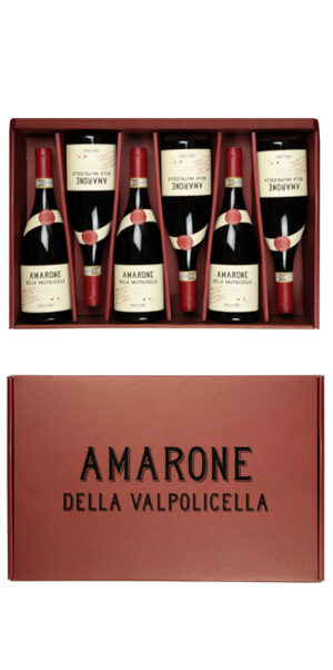2015 Gift collection of six bottles of Amarone della Valpolicella red wine