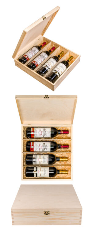 Gift box with 4 different vintages from Château Saint-Hilaire