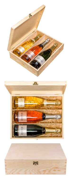 Gift set of 3 bottles of Champagne from Champagne Bouché