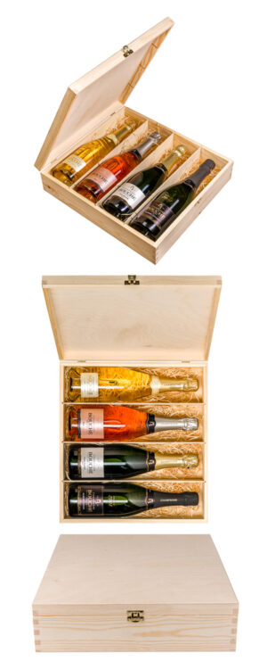 Gift set of 4 bottles of Champagne from Champagne Bouché