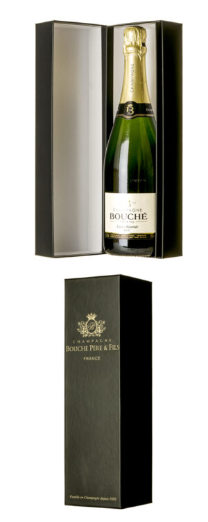 Gift box for Champagne wines by Champagne Bouché winery