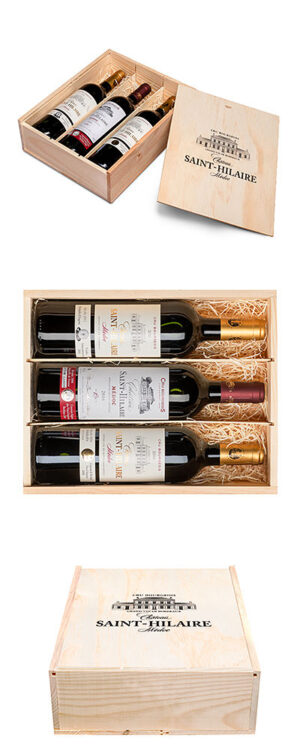 Gift box with 3 different vintages from Château Saint-Hilaire
