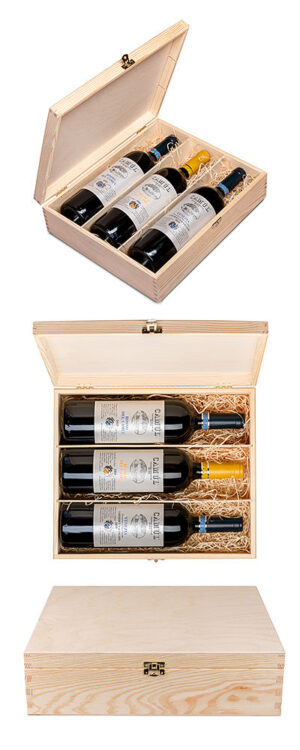 Gift box with 3 different vintages from Camúl